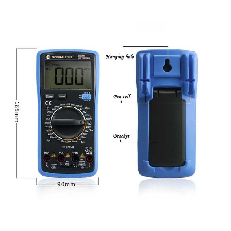 Sunshine Dt-890n Auto Range Ψηφιακό Πολύμετρο με Οθόνη LCD