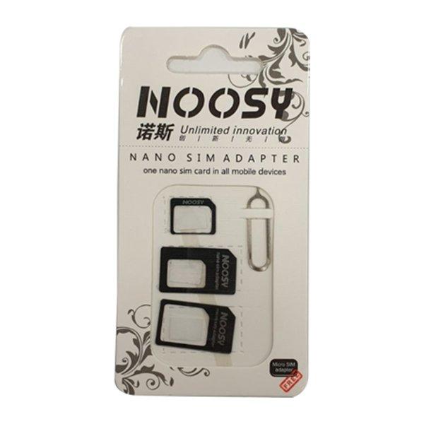Αντάπτορας Noosy Nano SIM Micro/Nano/Normal SIM & Eject Tool