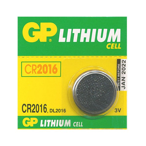 GP Batteries Lithium Cell CR2016
