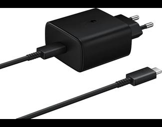Samsung USB-C Cable & USB-C Wall Adapter 45W Μαύρο (EP-TA845XBEGWW)