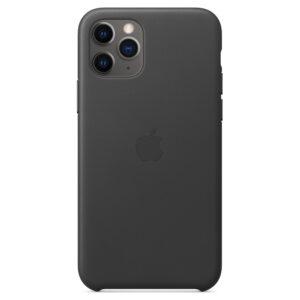 Leather Θήκη Apple με Mag Safe για iPhone 11 Pro (Original) Black (MWYE2ZM/A)