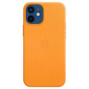 Leather Θήκη Apple με Mag Safe για iPhone 12 Mini (Original) California Poppy (MHK63ZM/A)