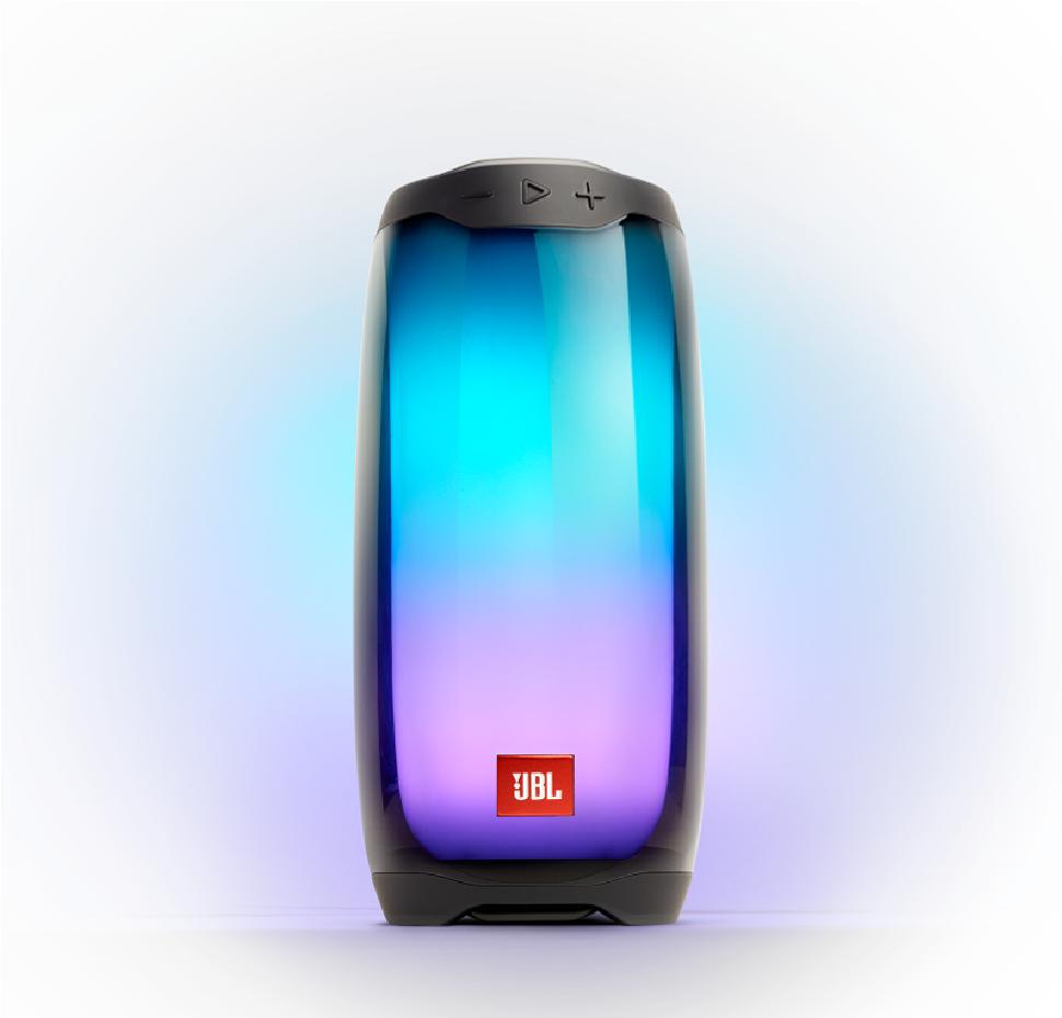 JBL Pulse 4, Bluetooth Speaker (IPX7) with 360 LED light effects (Black)
