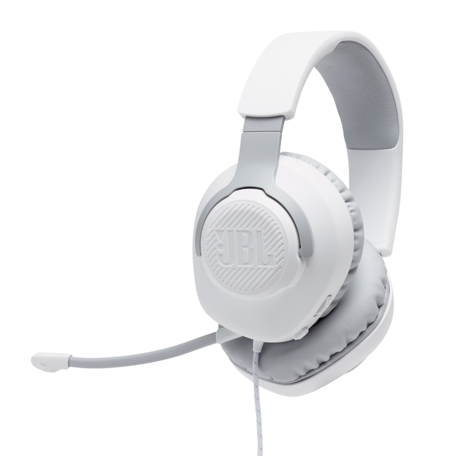 JBL Quantum 100, Over-Ear Wired Gaming Headset (White)