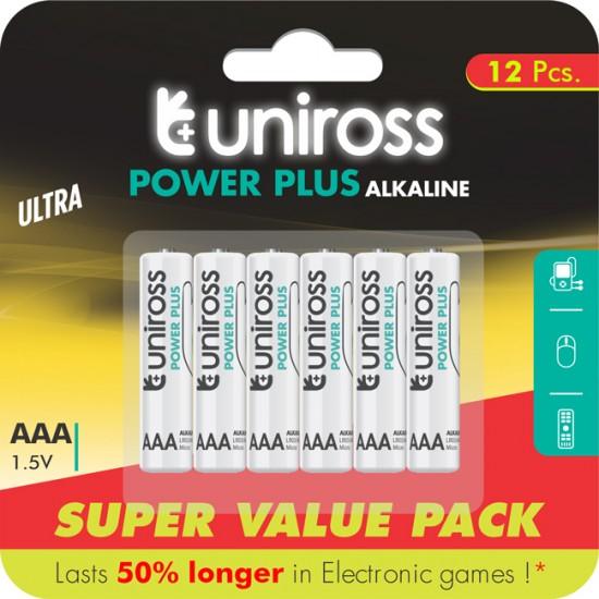 Uniross Power Plus αλκαλική μπαταρία AAA - LR03 (12τμχ)