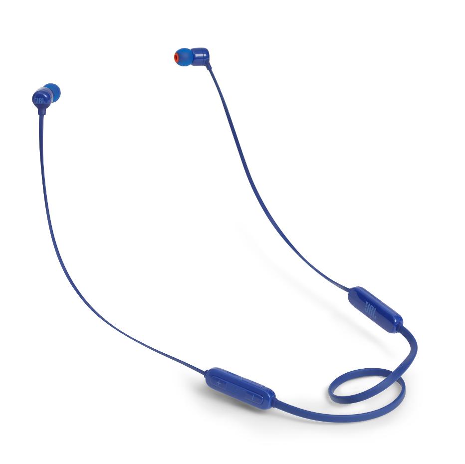 JBL T110BT InEar Bluethoth Headphones 3-button Mic/Remote (Blue)