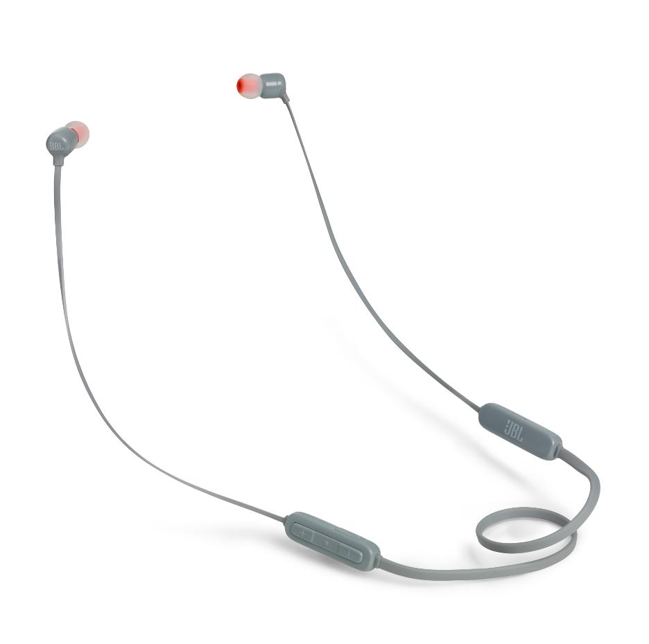 JBL T110BT InEar Bluethoth Headphones 3-button Mic/Remote (Grey)