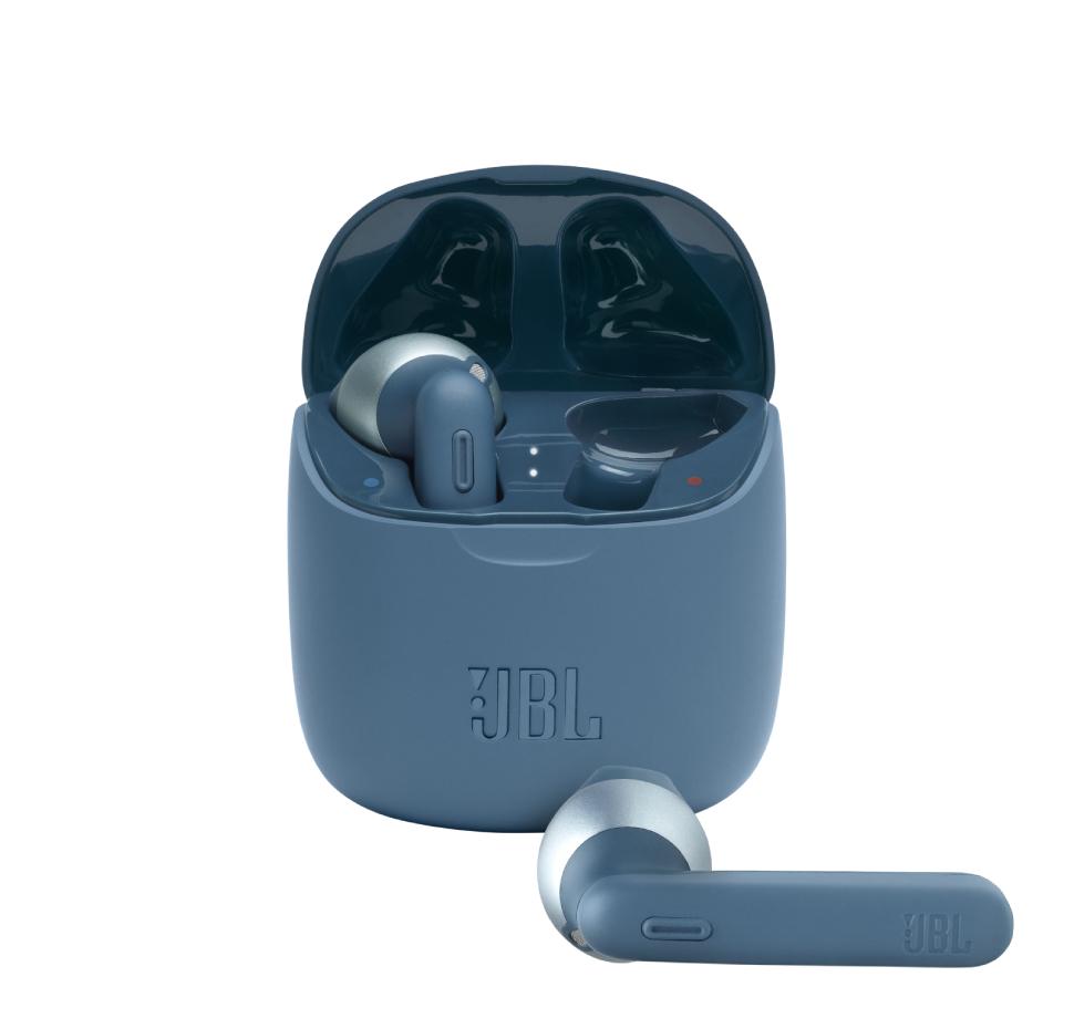 JBL Tune 225TWS, True Wireless Ear-Buds Headphones, (Blue)