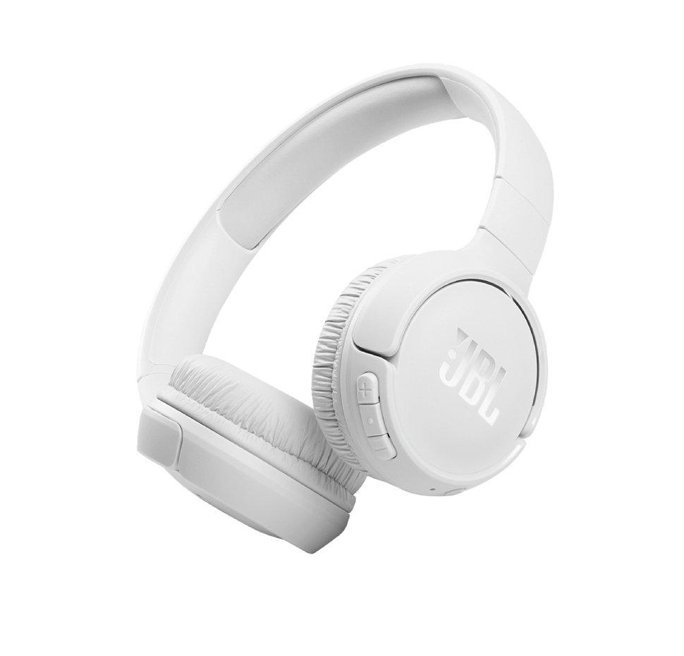 JBL Tune 510ΒΤ, On-Ear Bluetooth Headphones w Earcup control (White)