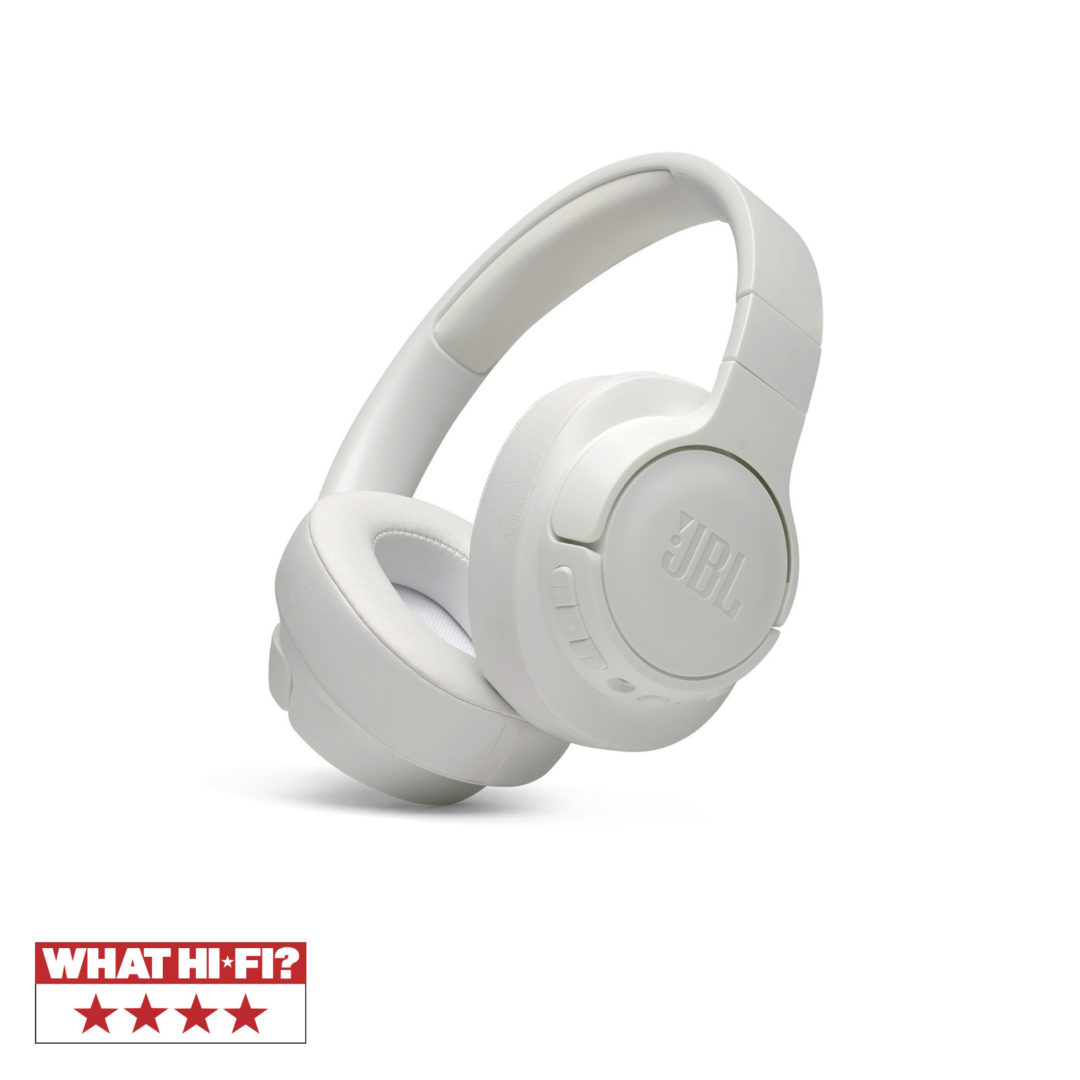 JBL Tune 750BTNC, Over-ear Bluetooth Headphones, Active Noise Cancelling, Multipoin (White)