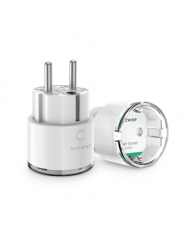 BlitzWolf BW-SHP6 Pro Wi-Fi Smart Socket, Alexa Remote Control Switch/ Electricity Monitoring up to 3450W – άσπρο