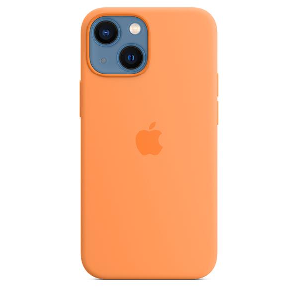 Apple Silicone Case iPhone 13 mini with MagSafe Marigold