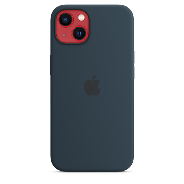 Apple Silicone Case iPhone 13 with MagSafe Abyss Blue